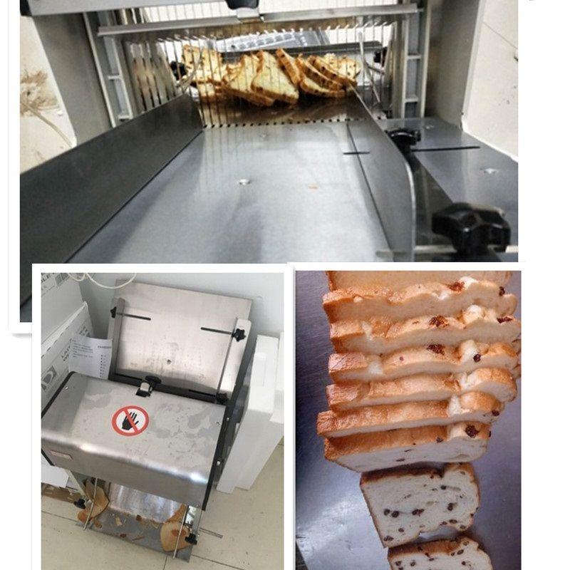 220 V Multifunktions Automatische Elektrische Brot Slicer Maschine Kommerziellen 31 stück Scheiben Geschnitten Brot Maker Platz Paket Toast Slicer