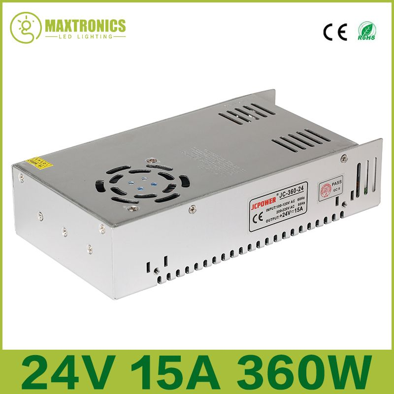 2016 Best price 24V 15A 360W Universal Regulated Switching Power Supply for CCTV Led Radio Free shipping