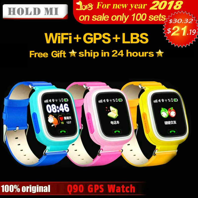 HoldMi Q90 GPS Child Smart Watch Phone Position Children Watch 1.22inch <font><b>Color</b></font> Touch Screen WIFI SOS Smart Baby Watch Q80 Q50 Q60