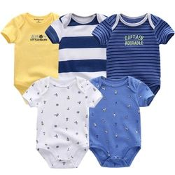 5 Pcs/Lot High Quality Baby clothes Character Short Clothing Set Newborn bodysuits & one-piece 2018 Summer Body Baby Bodysuits
