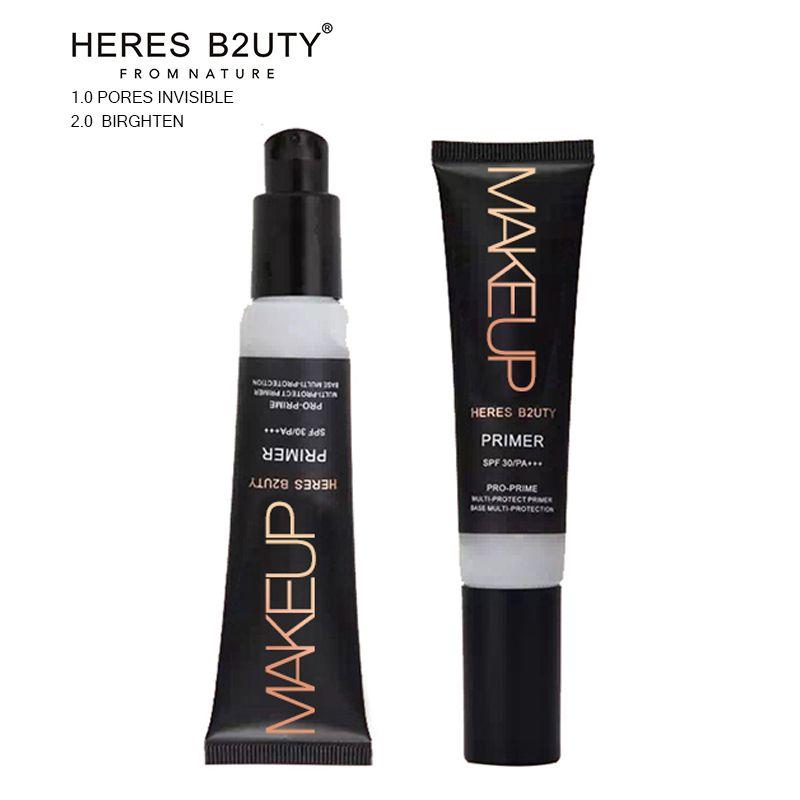 30 ml HERES B2UTY Professionnel Base Amorce maquillage Huile Contrôle Pores Dissimulation Blanchiment Égayer UV Multi-Protection Lisse visage