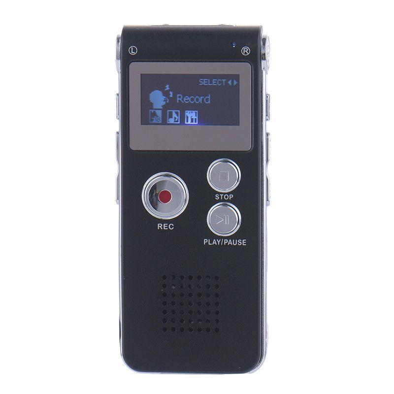Rechargeable 8GB Mini USB Flash Digital Audio Sound Voice Recorder 650Hr Dictaphone Dictaphone MP3 Player Black color