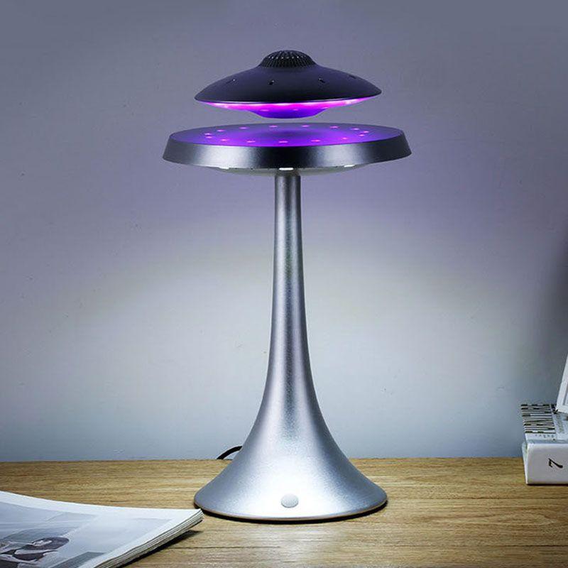 UFO Magnetic levitation bluetooth stereo Wireless charging weiterhin das leben UFO sound Wireless bluetooth lautsprecher Mode lampe