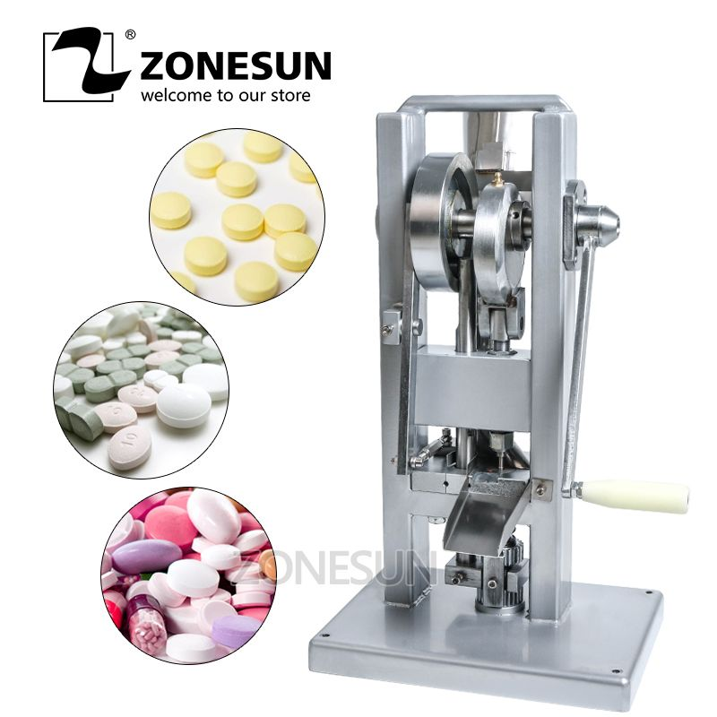 ZONESUN Manual Single punch tablet press/ Candy Sugar press machine / (lightest type) TDP-0 /hand-operated/mini type 20KG