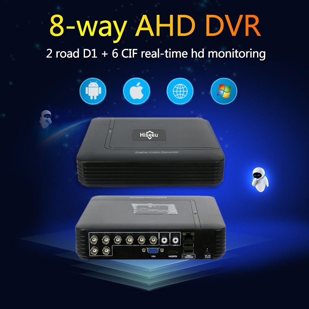 Hiseeu 8CH CCTV DVR AHD 1080N 5IN1 Pour CCTV Kit DVR Système de Sécurité VGA HDMI NVR Pour Caméra IP Onvif PTZ DVR Dropshipping 48