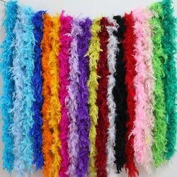 2 yards \ lot vêtements accessoires turquie plume multi couleur bande moelleux boa heureux d'anniversaire parti décorations de mariage fournitures