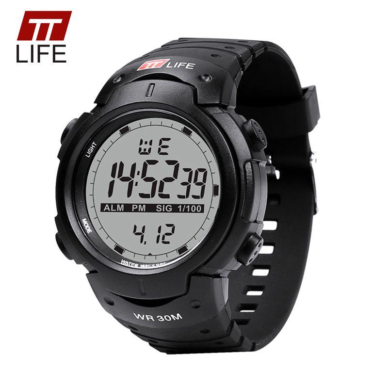 TTLIFE Uhren Männer Sport Elektronische Digital Analog Uhr Männer 2017 Luxus Marke Hintergrundbeleuchtung Wasserdicht Armbanduhren für Männer