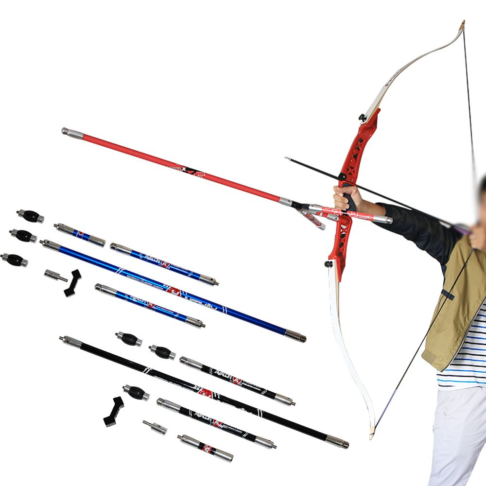 Professional Archery Bow Stabilizer For Shooting Game Competition Practice Aluminum Blue/Red/Black