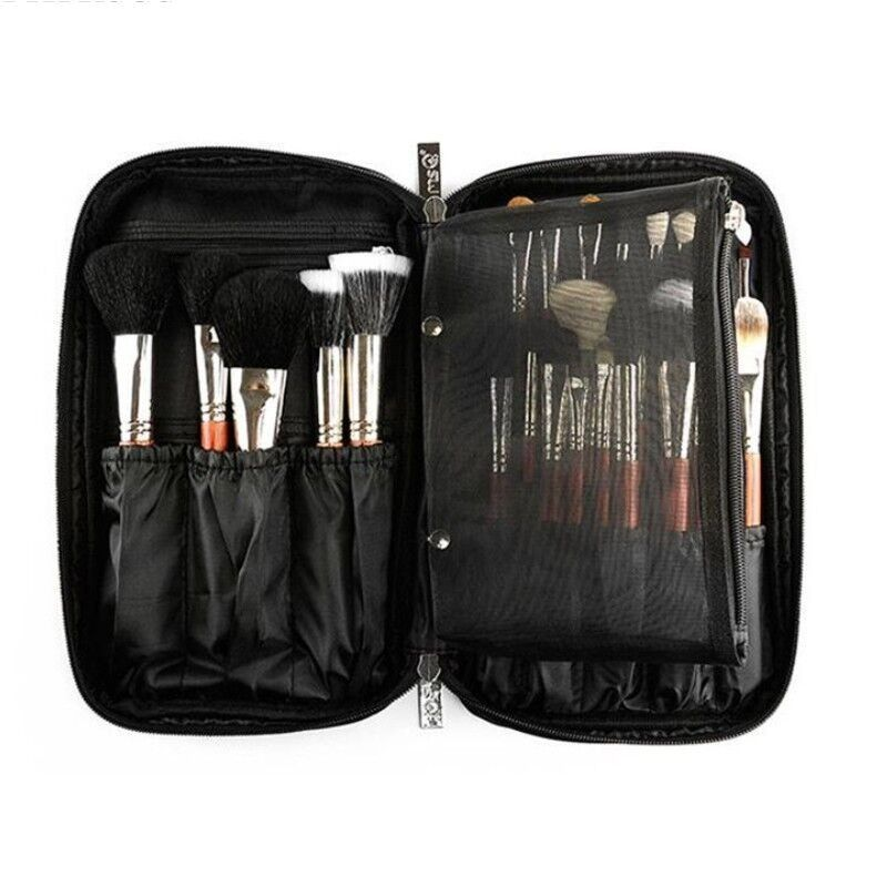 LHLYSGS professionnel beauté maquillage brosse ensemble cosmétique sac organisateur maquillage artiste étui avec ceinture sangle multi-poche sac de maquillage