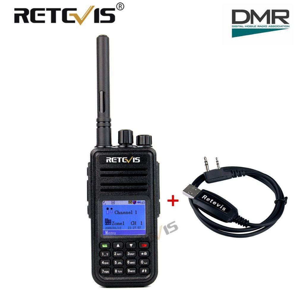 Retevis RT3 DMR Digital Radio (GPS) Walkie Talkie UHF (or VHF) 5W Encrypted 2 Way Radio Amador Hf Transceiver Ham Radio Station