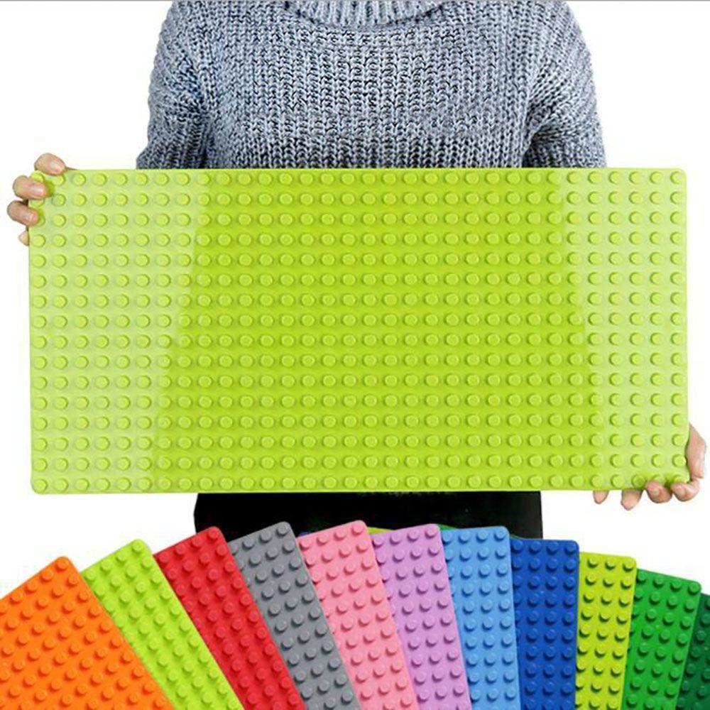 Duplo Big Bricks Large particle bottom plate 512 point Green 16*32 Dots 51*25.5cm Building Blocks Baseplate Toys For Children