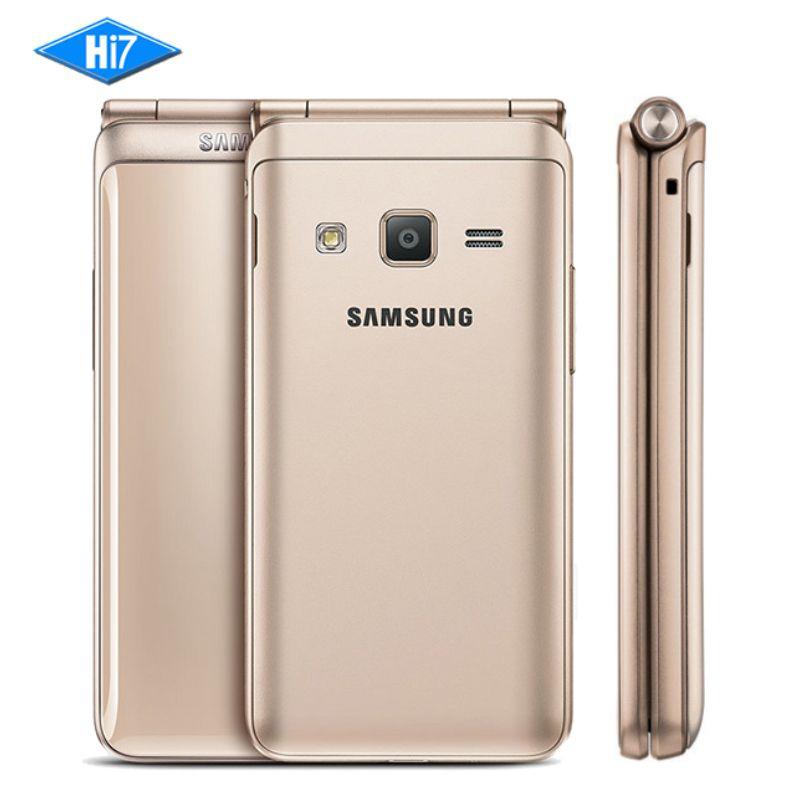 Neue Entsperrt Samsung Galaxy Ordner 2 G1650 Quad Core 8.0MP 3,8 Flip Smartphones 4G LTE Dual SIM 16 GB ROM 2 GB RAM Handy