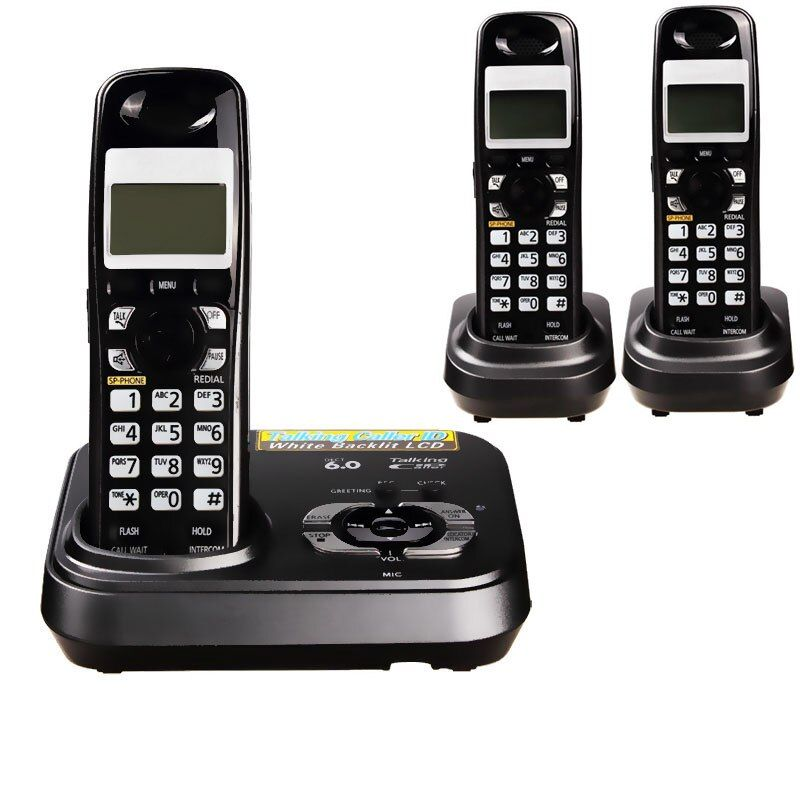 1.9 GHz Dect 6.0 Call ID Digital Cordless Phone With Answer System Wireless Base Station Cordless Fixed Telephone For Office