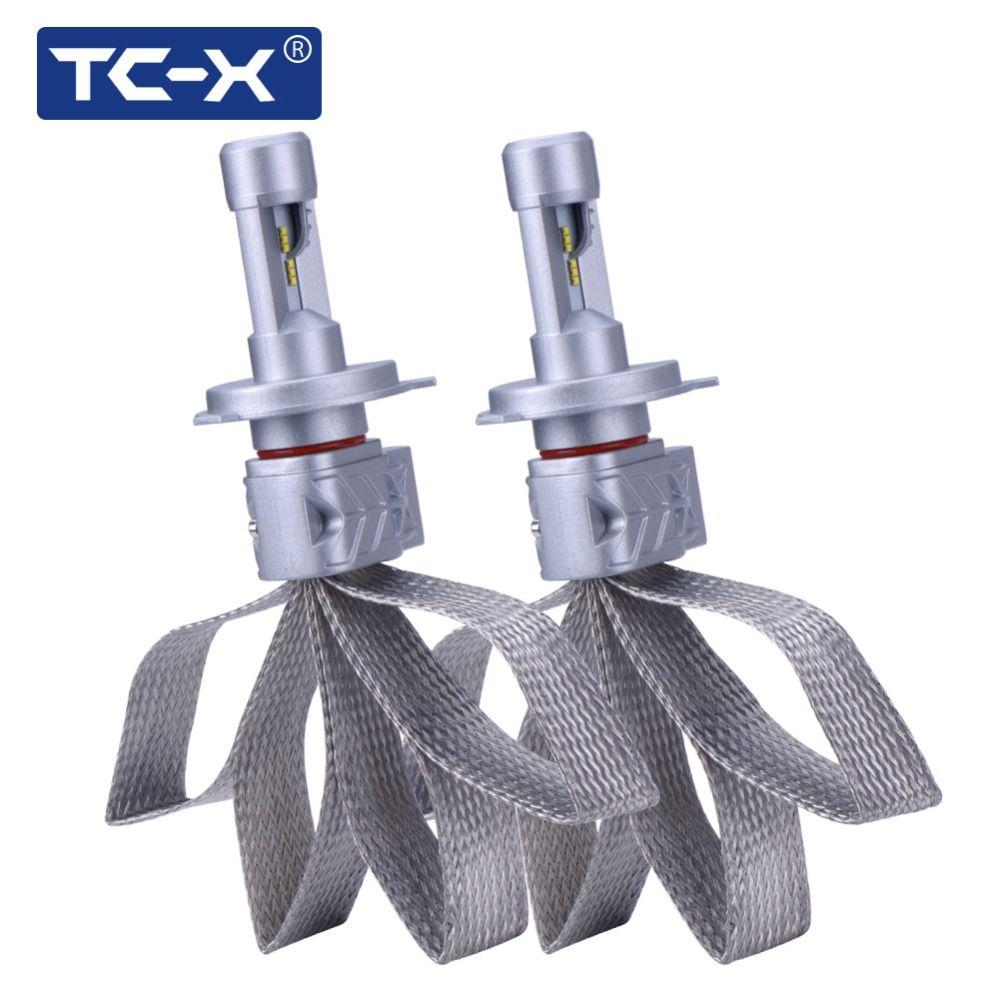 TC-X Lumileds ZES LED Car Headlight H4 9003 HB2 H4 H11 H8 9005 HB3 9006 HB4 H7 LED Super Bright Headlight Bulbs Pure White