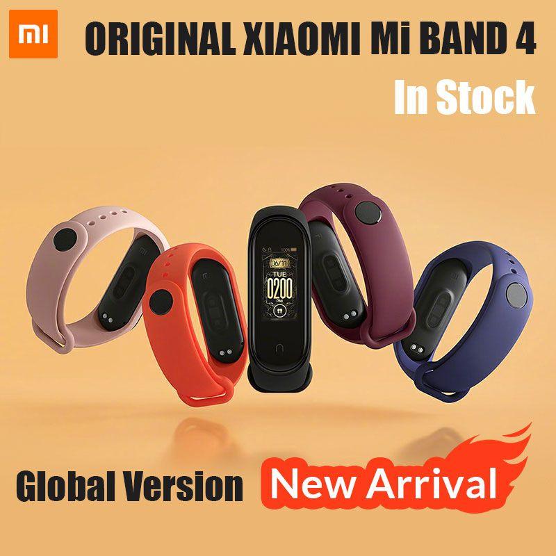 2019 plus récent Xiao mi bande 4 Mp3 musique fonction couleur écran Fitness fréquence cardiaque mi bande 4 temps Bluetooth 5.0 Bracelet intelligent