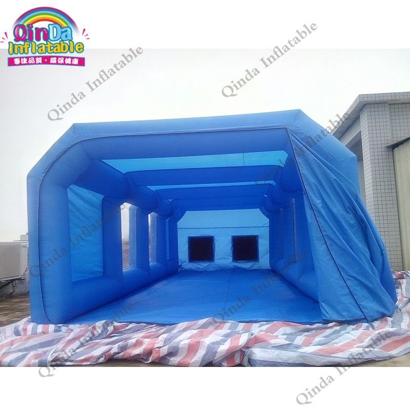8m*4m*3m spray booth inflatable cube tent car spray paint booth with spray booth carbon filter for car painting folding room