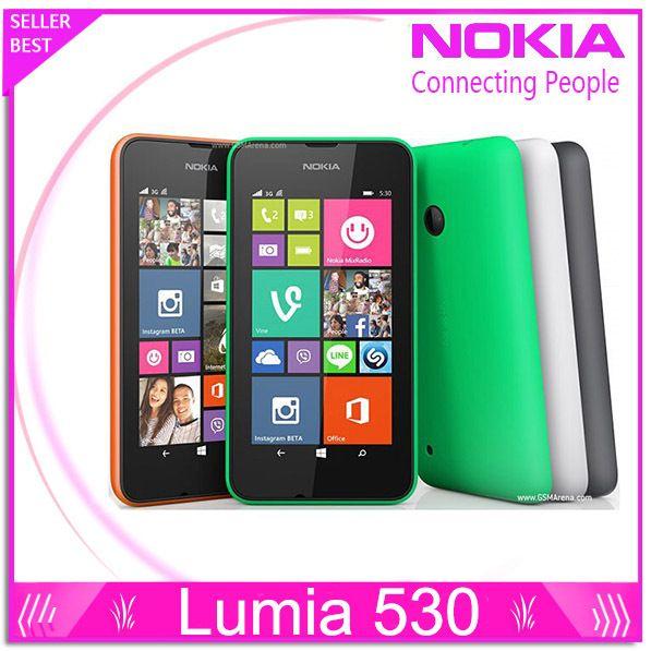 Nokia Lumia 530 Original Windows Phone 8.1 Phone 4.0 Touch Screen Quad Core Dual SIM 4GB ROM 5MP Camera 3G WCDMA Wifi GPS