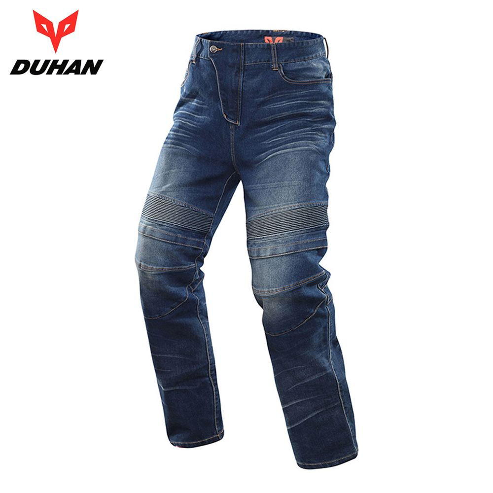 DUHAN Motorcycle Jeans Motocross Moto Pants Motorcycle Pants Protective Gear Jeans Trousers CE Certification Protectors for Men