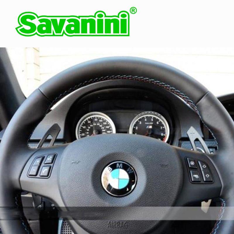 Savanini aluminium volant DSG palettes de changement de vitesse Extension de manette de vitesse pour Bmw e90 E92 E93 M3 M6 (2009-2013) Auto style de voiture