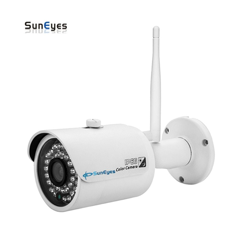 SunEyes SP-V701W 720P/1080P HD Mini IP Camera Outdoor Wireless Waterproof ONVIF and RTSP Support IR Night Vision Free P2P