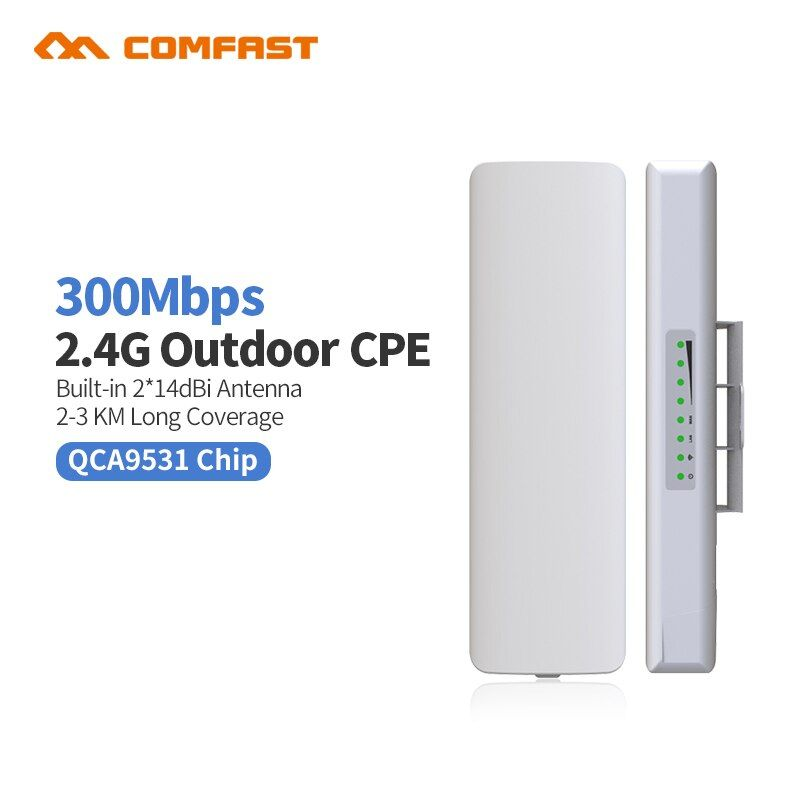 Comfast CF-E314 2,4G Outdoor CPE brücke 300 Mt Long Range Signal Booster Extender 3 km Drahtlose AP 2 * 14dbi Wifi Repeater Nanostatio
