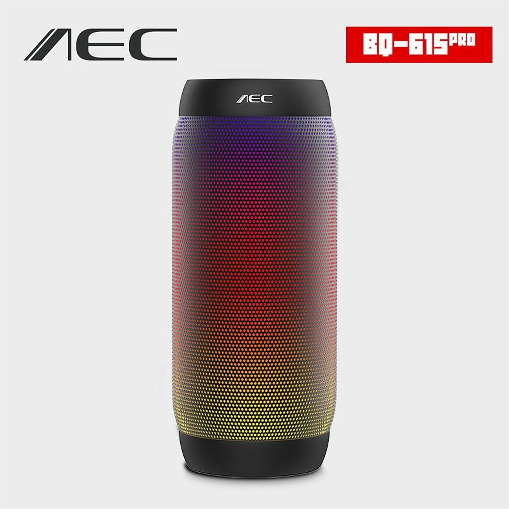 AEC BQ -615 PRO Portable Waterproof Wireless Bluetooth Speaker Super Bass Stereo Blutooth Speaker Sound Box with LED Lights NFC