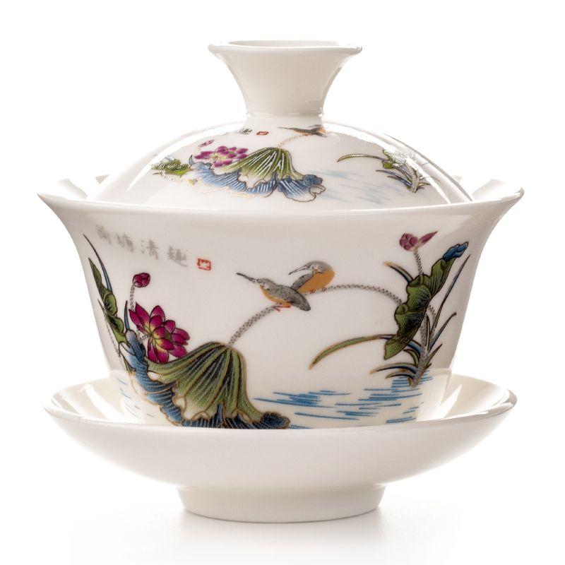 Gaiwan thé tasse soupière théière chinoise traditionnelle Kungfu théière en céramique thé bol tasse porcelaine Sancai tasse à thé ensembles D002
