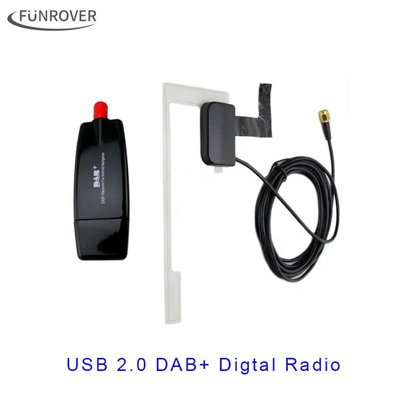 2017 Europe Universal USB cable DAB+ Antenna usb dongle for Android car dvd player DAB Antenna for Android DAB application