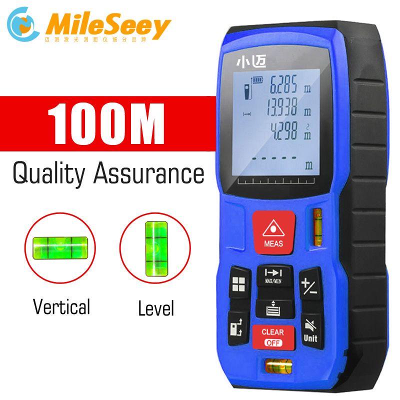 Mileseey Mini Digital laser distance Meter trena laser Tape measure Diastimeter tester tool 100M-80M--60M-40M Laser Rangefinder