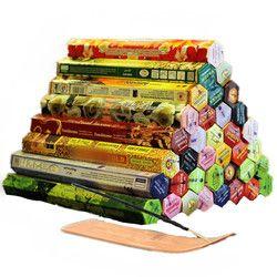 3/4/6/9/12 cajas incienso tibetano stick con placa incienso de la India sabor múltiple mezclado Paquetes sándalo incienso S $