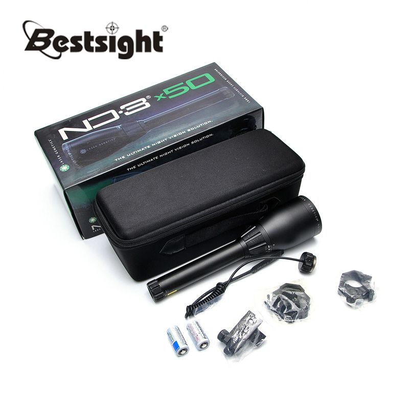 Green Laser Designator ND3 X50 ND50 Long Distance Hunting Laser Sight w/ Adjustable Scope Mount Night Vision Flashlight