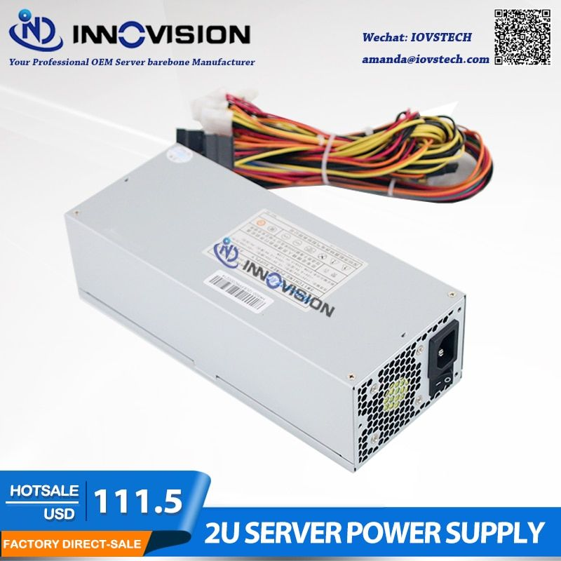 High efficiency Max output 600W industrial Power Supply P/S HK600 for 2U/3U Case 2U server psu