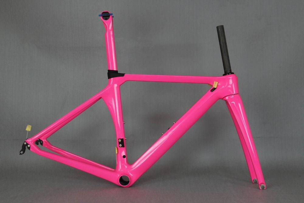 custom paint aerodynamics road bicycle carbon frame . aero bike frame oem factory directly sale , lady bike frame
