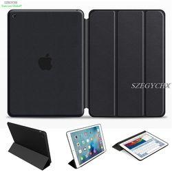 SZEGYCHX Original 1:1 Ultra delgado de la cubierta para apple iPad mini 1 mini 2 mini 3 soporte elegante Auto estela/del Sueño con LOGO