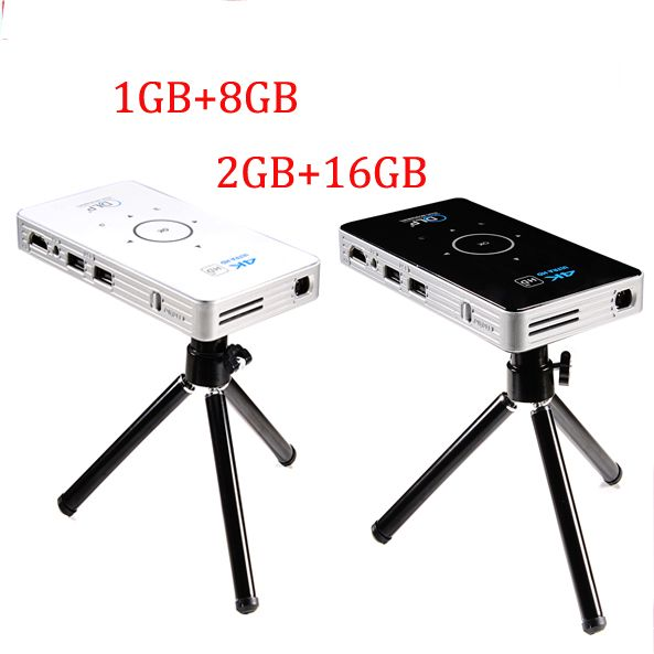 pocket projector 4k dlp mini C6 projector 50 lumen Android 6.0 quad core dual band wifi vs h96-p Bluetooth pico projector