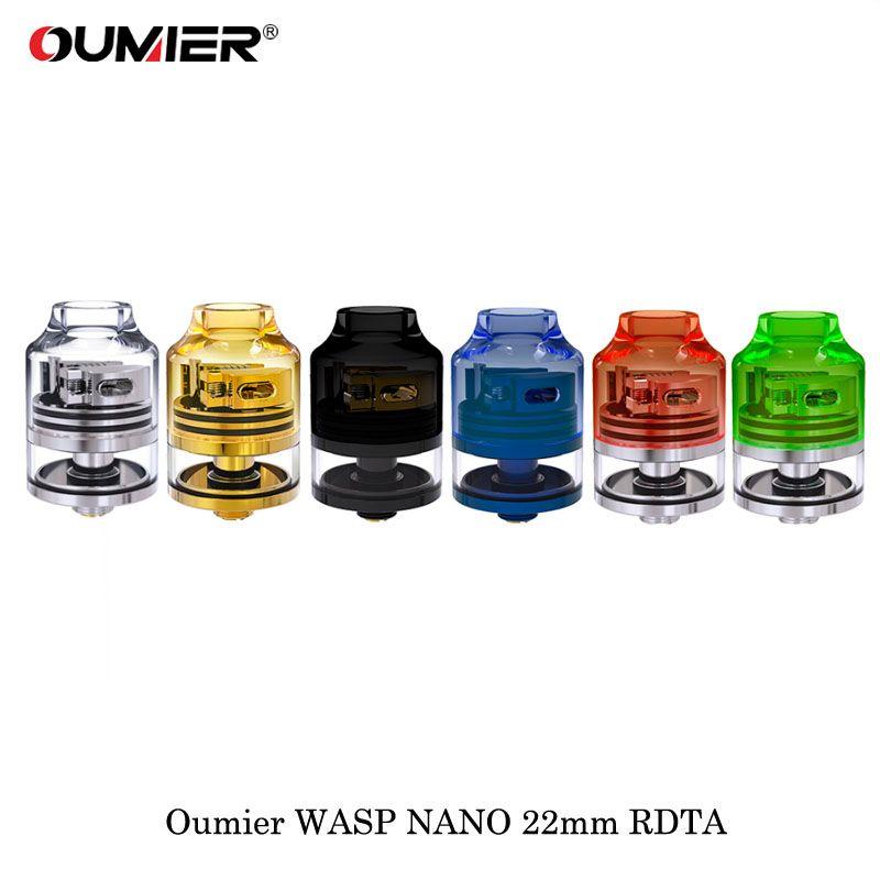 cigarette electroniqu Oumier Wasp Nano RDTA 22mm Diameter 2ml Rebuildable Atomizer Vaporizer Fit 510 thread SMOK Vape Box Mod