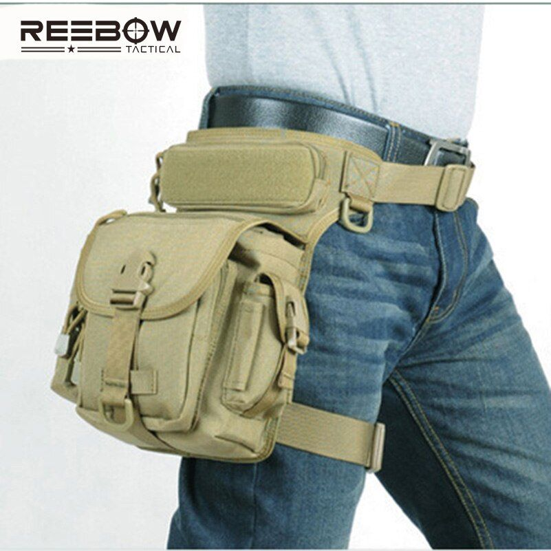 Outdoor Multifunctional Tactical Drop Leg Bag SWAT Hunting Tool Waist Pack Motorcycle Sports Ride Men 1000D CORDURA Pack