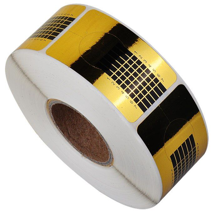 New 500 pcs/Roll Square Golden Nail Form Stickers, Gel Tip Extension Nail Tools, Nail Paper Holder Beauty Accessories
