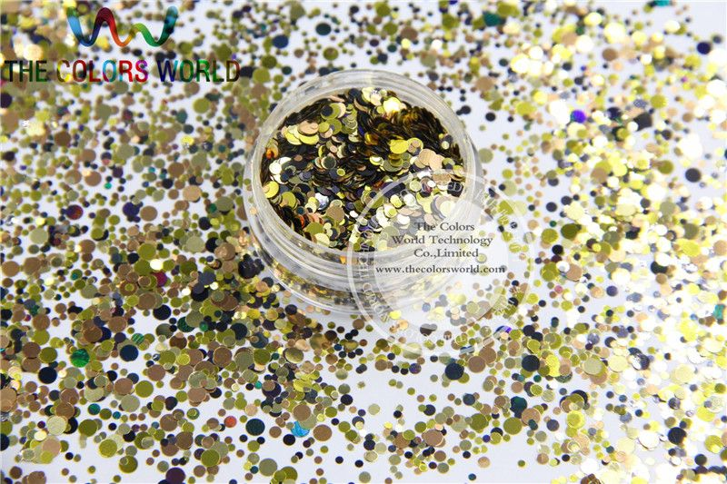 RLM-155  Mix  Colors round dot  shape  for Nail Art  and DIY supplies