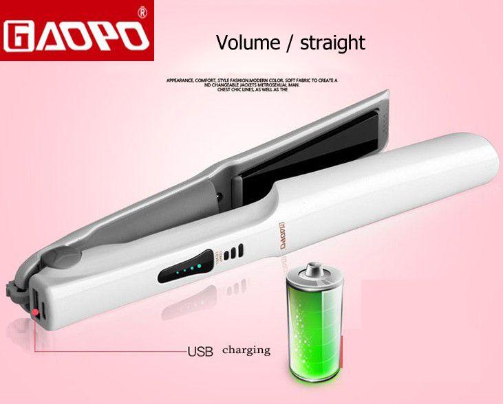 Зарядка через USB выпрямитель для волос бигуди выпрямление Керамика Flat Iron Контроль температуры может взимать плату за телефон укладки