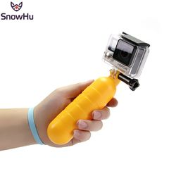SnowHu Arrival Yellow Water Floating Hand Grip Handle Mount Float Accessory for Gopro Hero 6 5 4 3+ For XIAOMI for YI 4K GP82