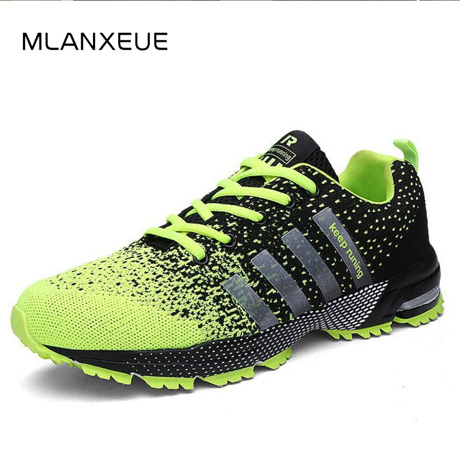 MLANXEUE 2018 Breathable <font><b>Lovers</b></font> Unisex Casual Shoes Race an Male Shoe Size 35-4 Fashion Lace-up Human Comfortable Men Shoes