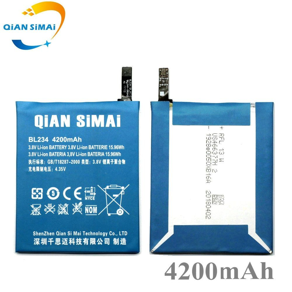 QiAN SiMAi 4200mAh 2017 New high quality BL234 li-ion Battery for Lenovo P70 P70t P70-T Smartphone Free Shipping+track code