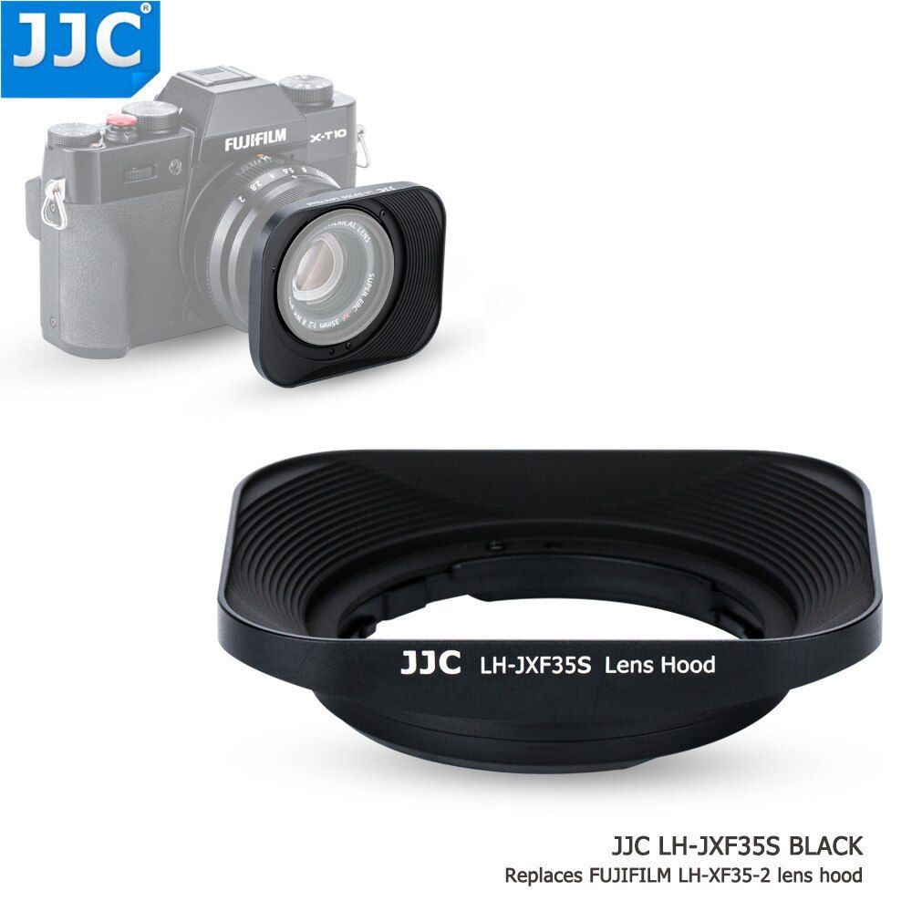 JJC Bayonet Square Camera Lens Hood 43mm Thread Size Replaces Fujifilm LH-XF35-2 for FUJINON LENS XF35mm/25mm F2 R WR