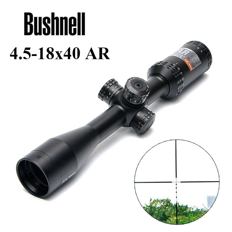 BUSHNELL 4.5-18x40 AR/223 Tactical Rifle Scope Outdoor Reticle Optic Sight Cross Riflescope Long Distance Hunting Scopes