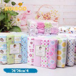 4 unids/lote bebé recién nacido cama 100% algodón cuna hoja 76x76 cm bebé cama bebé super suave hojas para niños niñas