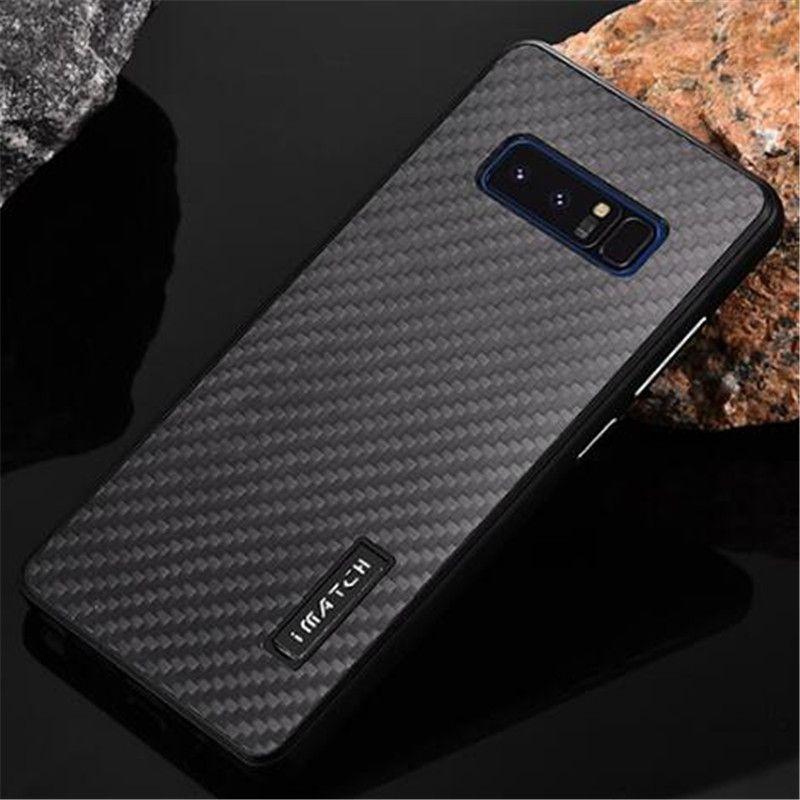 Imatch Fall für samsung-anmerkung 8 Note8 N9500 case Metall aluminium + kohlefaser zurück fall abdeckung für Samsung S8 Plus S7 Rand coque
