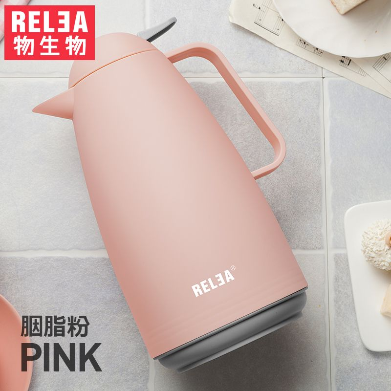1000ml Europe style Thermal Jug Vacuum Insulated glass inner tank thermos Carafe household vacuum Insulation kettle BPA free