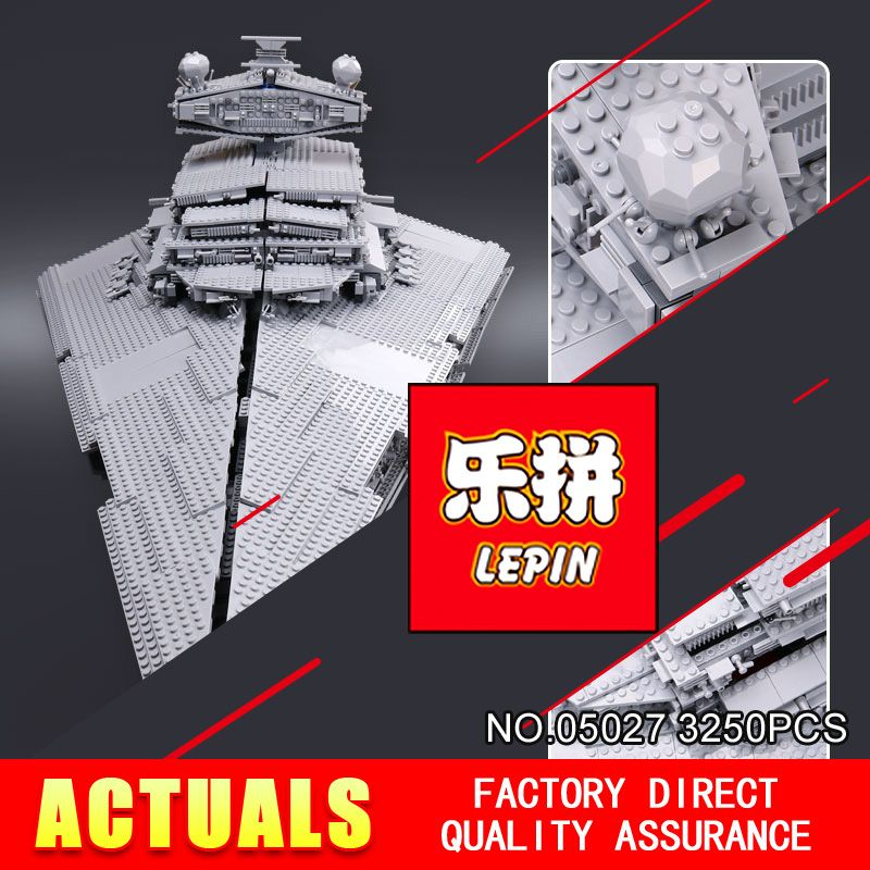 LEPIN 05027 Star DHL 3250Pcs Wars Emperor fighters starship Model Building Kit Blocks Bricks Compatible 10030 to Children Toys