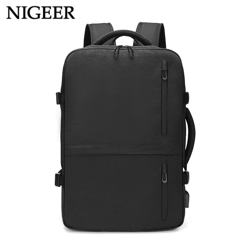 NIGEER 15.6 inch Laptop Backpack Men Expansion Large Capacity Business Backpacks with USB Charger Travel Backpack Male n1711